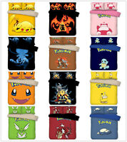 3D Pokemon Figure Kids Bedding Set Duvet Cover Pillow Shams Comforter Cover 3PCS