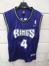 Maillot basket KINGS SACRAMENTO NBA shirt NIKE trikot Chris WEBBER n°4 S violet