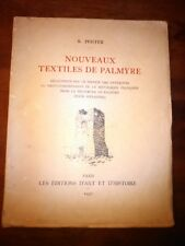 Nouveaux Textiles de Palmyre par R Pfister 1937  Antiquités/Archéologie/Textile