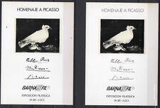 Hojas Recuerdo 1978 Edifil 69/70 Barnafil 78 Picasso