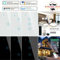 TUYA WIFI Smart Home 1/2/3 Gang Wall Switch Touch Glass Panel LED Light Switch