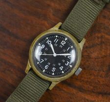 Vintage Benrus Mil-W-46374A US GI Military Issue Plastic Vietnam War Watch 1969