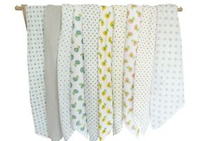 MuslinZ Single Baby Muslin Swaddle 100x90cms 100% Pure Soft Cotton - Various