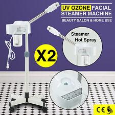 2 Facial Steamer Machine Uv Ozone Beauty Salon Aromatherapy Skin Care Equipment