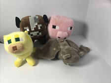 Minecraft Cheetah,Pig,Cow and Bat Soft Toy Plush