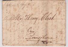 "OHIO ""Cleavel O Aug 9"" Manuscript 1822 FL Cleaveland/Green Bay M.T. to Erie PA."
