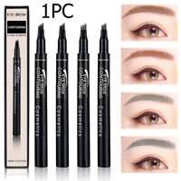 Liquid Eyebrow Tattoo Pen Waterproof 4 Fork Tip Microblading Makeup Ink Sketch