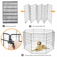 36 Inch Tall Dog Playpen Large Crate Fence Pet Play Pen Exercise Cage 8 Panels