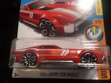 HW HOT WHEELS 2017 HW MUSCLE MANIA #9/10 COUNTRY CLUB MUSCLE RED HOTWHEELS VHTF