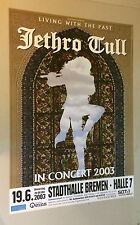 Jethro Tull Poster pin-up Living With the Past German Concert Weser Kurier Promo