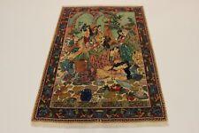 täbrizi Image de poète kharram très bien PERSAN TAPIS tapis d'Orient 2,22 x 1,53