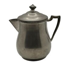 New listing Vintage Old English Genuine Pewter Creamer Pot With Lid Collectible Mid Century