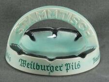 New listing Vintage Stammtish Ceramic Pottery Ashtray Weilburger Pils Brauerei Helbig