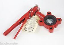 """Bray 2"""" Butterfly Valve Series 31with Handle & Notch Plate"""