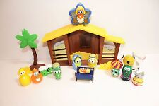Veggie Tales Christmas Nativity Playset Lot With 14 Pieces Toy Figures
