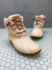 Sperry Top-Sider SALTWATER Faux Fur/Rubber Insulated Lace Up Rain Boots Size 7.5