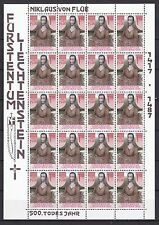Postfrische Briefmarken aus Liechtenstein mit Religions-Motiv ab 1945