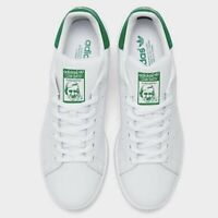 ADIDAS ORIGINALS STAN SMITH MEN's CASUAL SHOE LEATHER WHITE GREEN-Size 9.5 M US