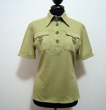 BLUMARINE Polo Maglietta Donna Cotone Cotton Woman Pole T-Shirt Sz.S - 42