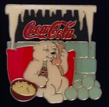 Coca Cola Pin Badge~1997 Vintage~Polar Bear on Phone~Coke~non-olympic