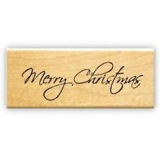 Merry Christmas mounted rubber stamp, holiday greeting #13