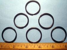 "12  BLACK  Zinc  Key Split Rings  1 "" OD"