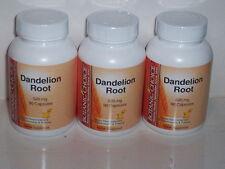 DANDELION ROOT 520MG DIGESTION AID SKIN TONER BLOOD TONIC  270 CAPSULE 3 BOTTLES