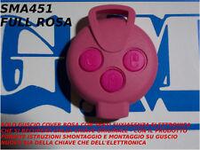 COVER ROSA E TASTI FUXIA PER CHIAVE TELECOMANDO SMART MHD FORTWO 451 3 TASTI