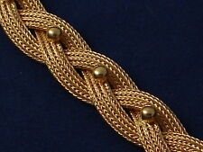 Beautiful Braided Mesh 18k Gold Bracelet Estate