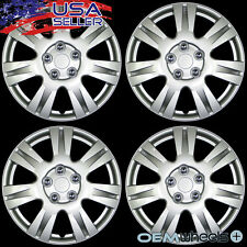 """4 NEW OEM SILVER 15"""" HUB CAPS FITS NISSAN SUV CAR TRUCK CENTER WHEEL COVERS SET"""