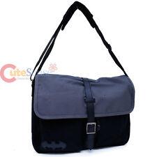 DC Comics Batman Messenger Bag Laptop Carry Briefcase Black Canvas Bat Logo