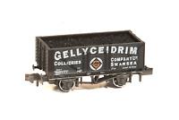 Peco NR-P428 N Gauge 7 Plank Wagon Gellyceidrim Collieries, Swansea