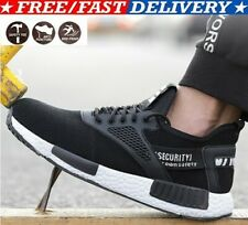 UK Men Safety Steel Toe Cap Shoes Work Trainers Hiking Protective Boots Sneakers