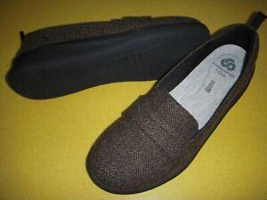 Clarks CLOUDSTEPPERS Sillian Hope Slip-On Loafers Women's 9 M Brown Tweed 9M ~