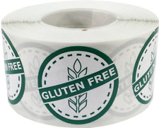 Gluten Free Food Rotation Labels 1 1/4 Inch Round Dots 500 Adhesive Stickers