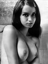 1970s Angela Nude in Shower showing off massive breasts 8 x 10 Photograph