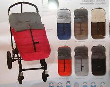 saco universal de carro de bebe, color basico, impermeable y forrado muy suave