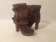 Naughty Monkey Taupe Suede Faux Fur Boot Size 6.5 XLNT! Awesome Look *FAST SHIP*