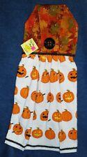 **NEW** Handmade Halloween Pumpkin Carving Hanging Kitchen Hand Towel #1824