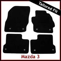 Mazda 3 Mk2 2008-2013 8-eyelets Tailored Fitted Carpet Car Floor Mats BLACK