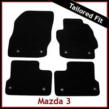 Mazda 3 Mk2 2008-2013 8-eyelets Tailored Fitted Carpet Car Floor Mats BLACK