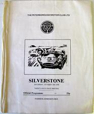 SILVERSTONE Peterborough MOTOR CLUB 13th OTT 1979 RACING PROGRAMMA UFFICIALE