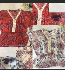 NWT Two Blouses Womens Lot Sheer Short Sleeve  Size 16-18W