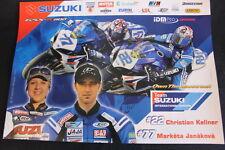 Poster Suzuki Team Int. Europe GSX-R600 2006 #22 Kellner #77 Janáková (HW)