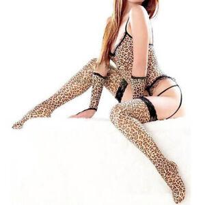 Women's Sexy Lingerie Leopard Sleepwear Sleep Dress Underwear G-string Nightwear