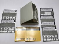 IBM Vintage 5.25 Floppy Disk Diskette 2D Library Case with 8 Software Disks IBM