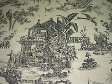 "~BTY~COVINGTON ~ASIAN ORIENTAL""LE CHINOISERIE""~LINEN UPHOLSTERY FABRIC FOR LESS~"