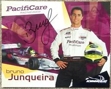 Signed BRUNO JUNQUEIRA 2003 PROMO SHEET In-Person Autograph Champ Car CART