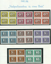 "1985/89; Postage-Due-Stamps ""Nachporto"" block of four complete set; MNH"