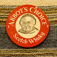 Very Old Beermat/ Coaster Abbot's Choice Whisky (1960's)